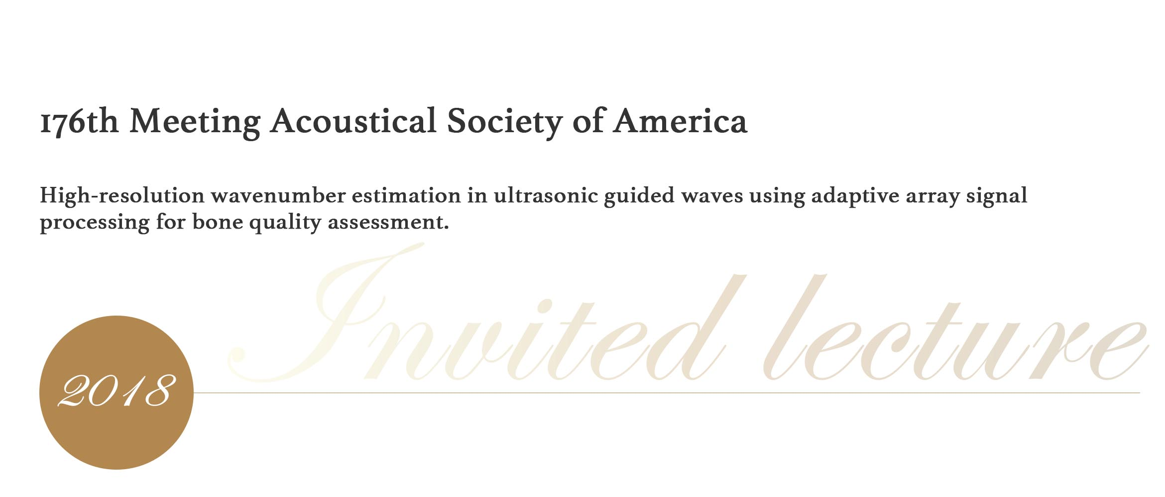 176th Meeting Acoustical Society of America
